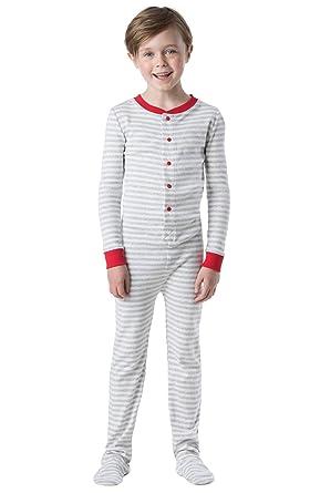 95292c0e11 Amazon.com  PajamaGram Big Boys Dropseat Sleeper Footie Pajamas ...
