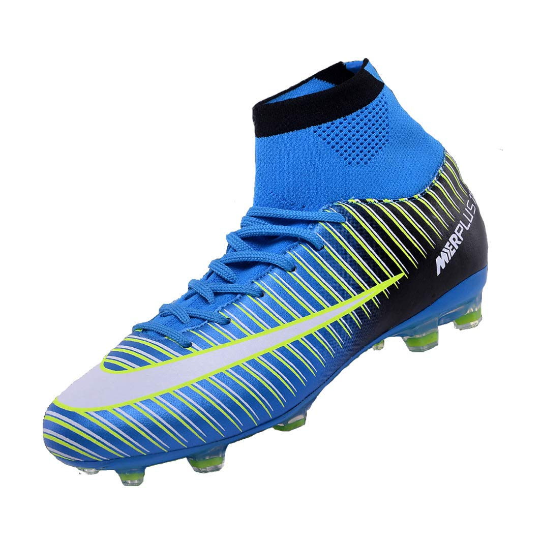 9d129d4b0 Sunny Holiday Football Boots Kids High Top Soccer Shoes Girls Unisex  Professional Spike Teenagers Training Shoes