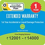 GreenDust Protection Plan for TV (Rs. 12001-14000), 1 year-Delivery by Email