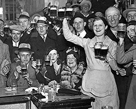 Amazon.com: Gatsbe Exchange  December-5th-1933-The-Night-They-Ended-Prohibition 8 x 10 Classic Old  Photos Vintage Classic Rare Find: Posters & Prints