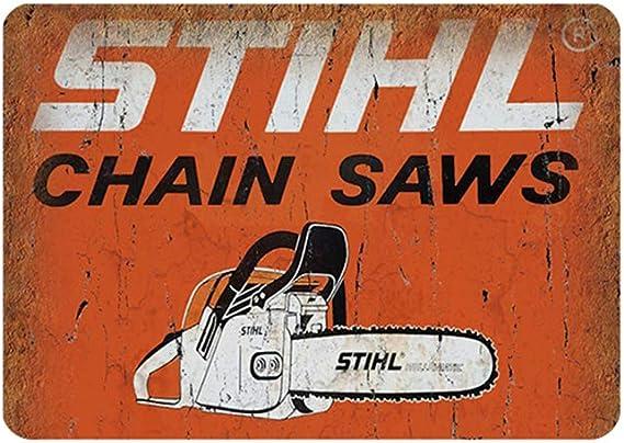McCulloch Chain Saws Tree Service Garage Retro Auto Wall Decor Metal Tin Sign