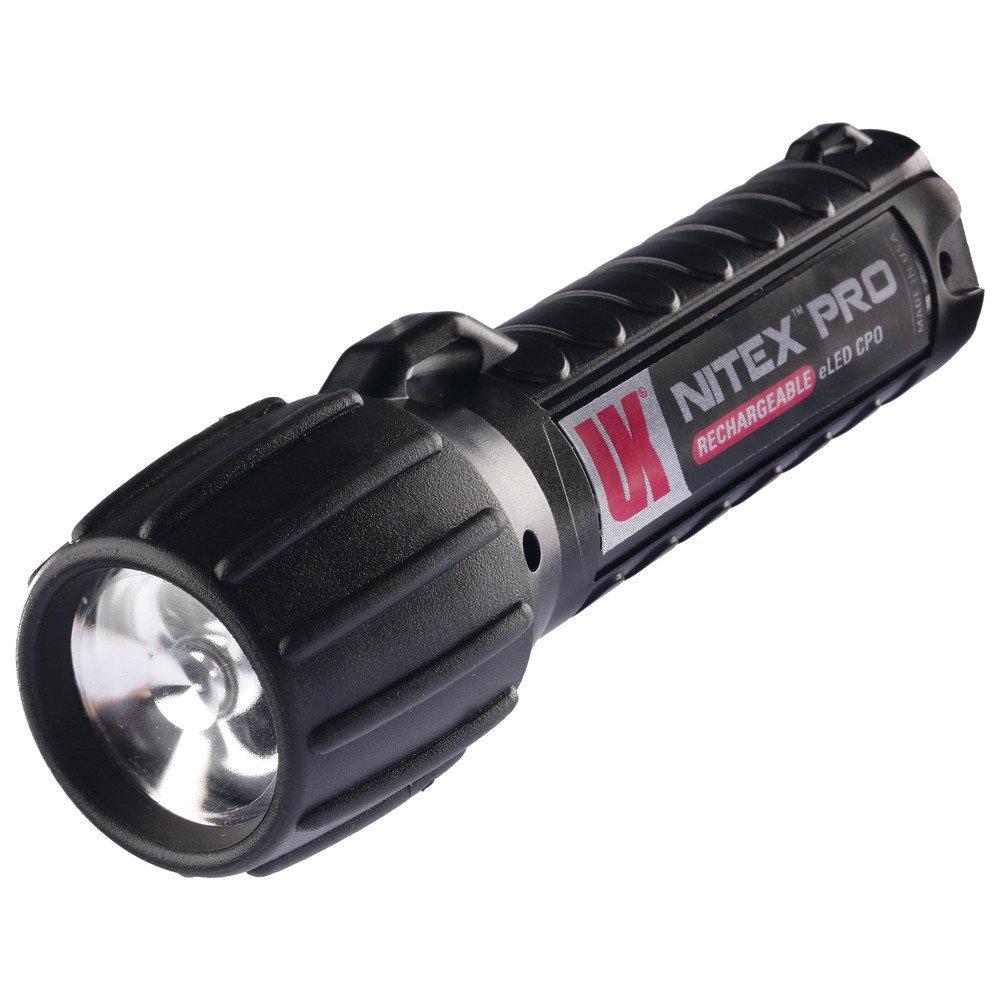 UK Lights Helm und Arbeitslampe Nitex Rechargeable eLED mit Ladegerät, schwarz 12339