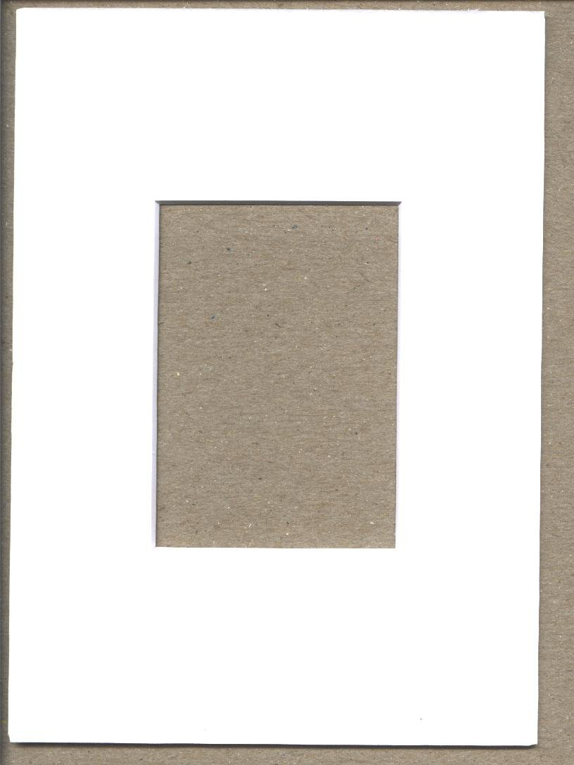 Pack of 10 5x7 White Picture Mats with White Core Bevel Cut for 2.5 X 3.5 Aceo or Sport Card Bux1 Picture Matting