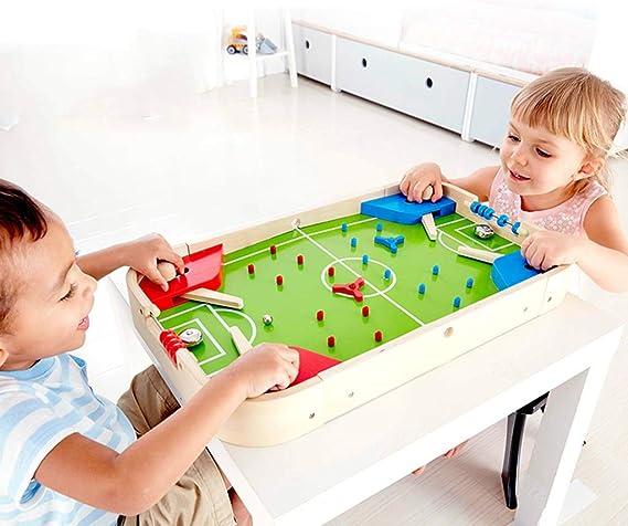 LiPengTaoShop Futbolín Mesa De Fútbol Juguetes para Niños Escritorio Pequeña Mini Máquina De Pinball Regalo De Cumpleaños Juego Máquina De Fútbol (Color : Green, Size : 57.4 * 35.4 * 6.5cm): Amazon.es: Hogar