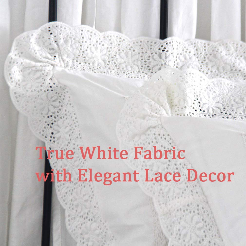 SexyTown Euro Pillow Shams Set of 2 Pillow Covers 26x26 White Euro Sham Cover Euro Square Throw Pillow Cushion Cover Set of 2
