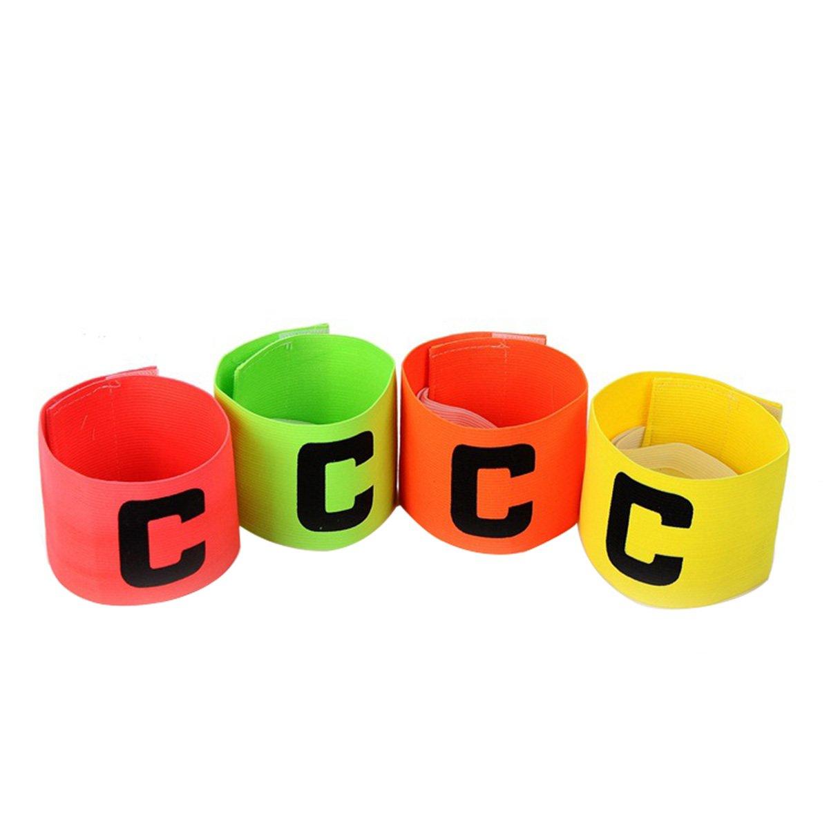 WINOMO Fuß ball elastischer Kapitä n-Armband-Basketball-justierbare Spieler-Bä nder 4PCS