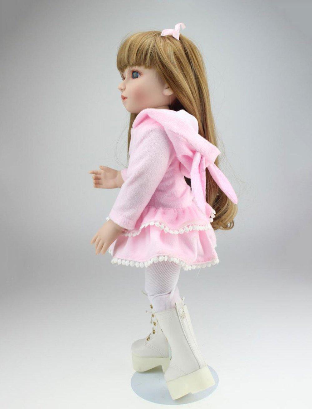 Disfruta de un 50% de descuento. Reborn Baby Doll Realistic Girl Girl Girl Pelo Largo Muñecas De Bebés 17 Pulgadas 45 Cm Realista Juguete Niños Regalo De Cumpleaños  salida