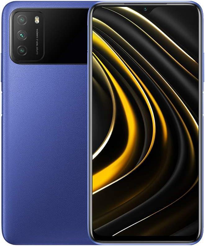 "Xiaomi Poco M3 (64GB,4GB) 6.53"", 48MP Triple Camera, Snapdragon 662, 6000mAh Battery, Dual SIM GSM Unlocked Global 4G LTE (T-Mobile, AT&T, Metro) International Model (Cool Blue)"