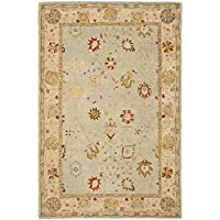 Safavieh Anatolia Collection AN559B Handmade Traditional Oriental Taupe and Beige Wool Area Rug (5 x 8)