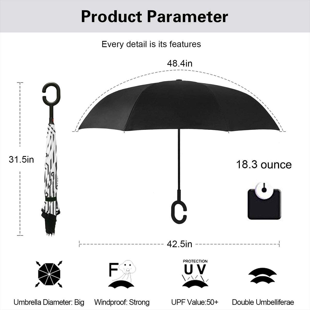 Car Reverse Umbrella,Computer Heart With Motherboard Elements For Technology Concept And Love Design,With C-Shaped Handle