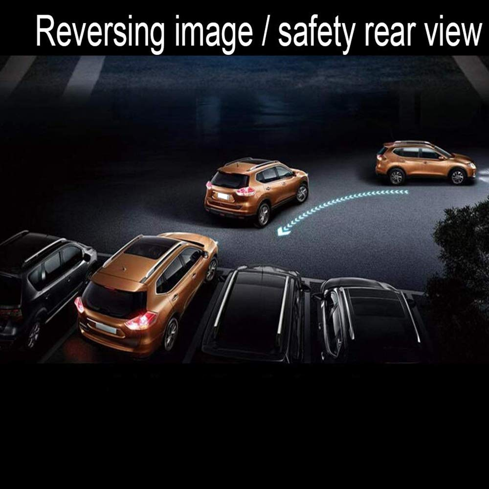 Front and Rear View Camera Sensor 1080P HDR Rear Rear View Mirror Video TOOGOO 10 inch Dash Cam Car Dvr Stream Media Dual Lens Mirror Full Press Screen HDR Reversing Backup Camera Kit