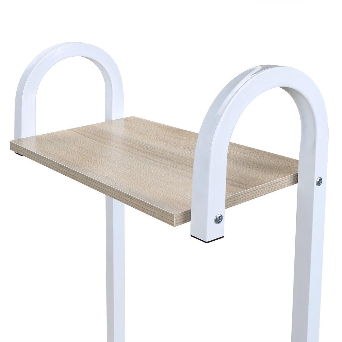 4 Tier Multipurpose Storage Shelf Bakers Rack, Metal Frame and Wooden Worktop for Kitchen by BestValue GO (Image #5)