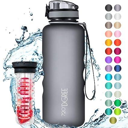 720°DGREE Botella de Agua uberBottle – 1,5 litros, 1500ml, Gris ...