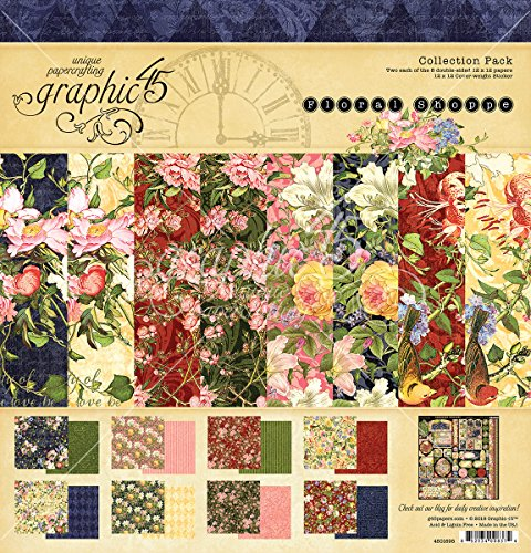 Graphic 45 Floral Shoppe 12x12 Collection Pack by Graphic 45
