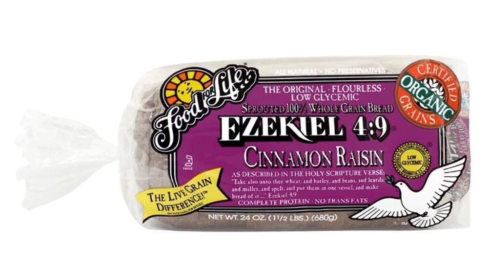 Food For Life Flourless Sprouted Grain Bread, Cinnamon Raisin, 24 oz (Frozen)