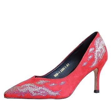Kphy Chaussures Femmesen Automne 6 Cm Talons Pointus Coloriage Mode