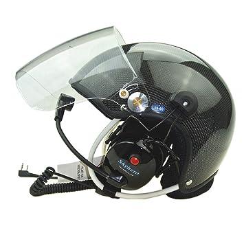 Amazon.com: MLTS Casco Paramotor Paragliding Cascos PPG ...