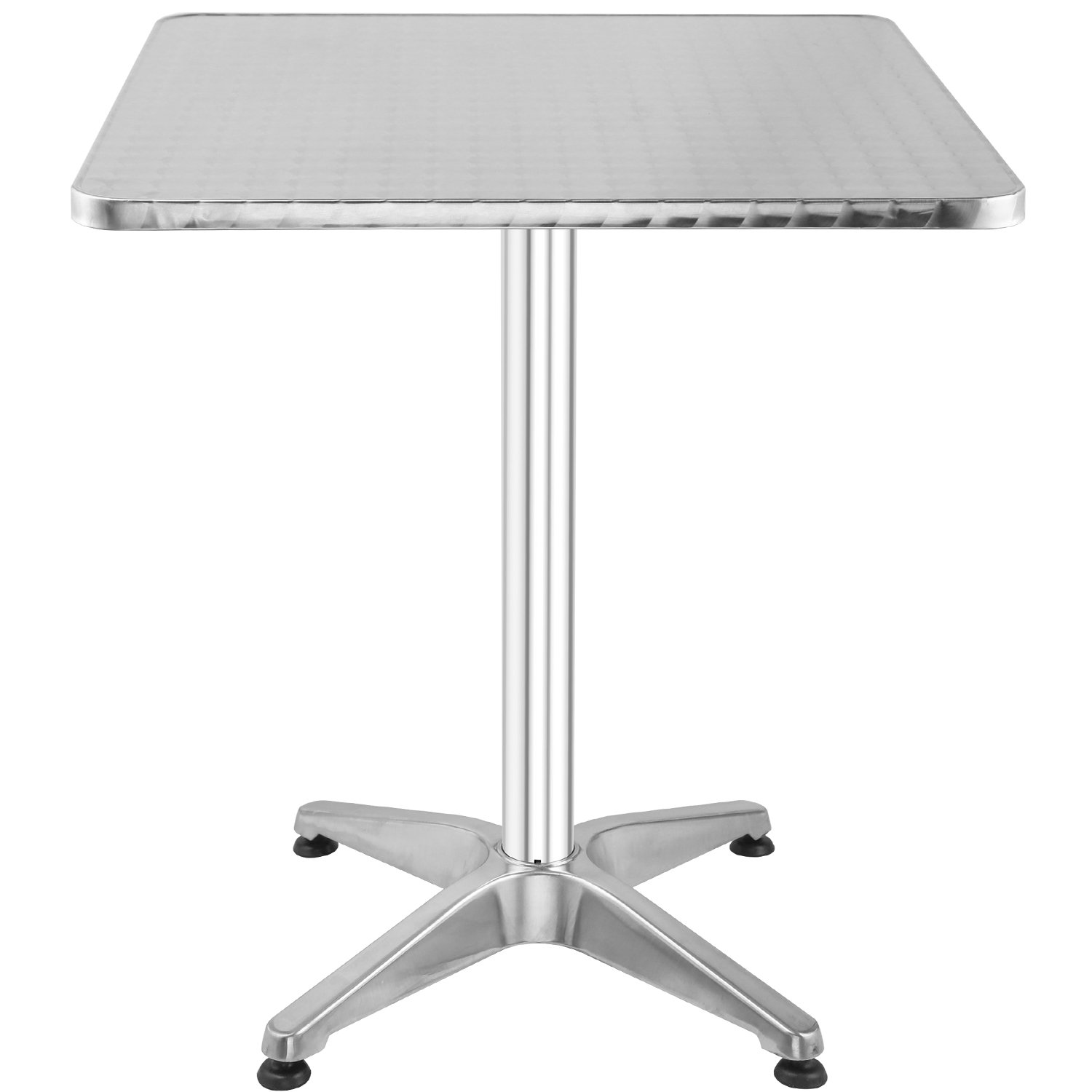 Hromee Bistro Bar Table 23.5'' Aluminum Square Tabletop for Indoor Outdoor, Silver