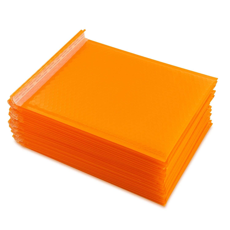 Pack of 200 230mm x 230mm Orange Coloured Kraft Padded Envelopes
