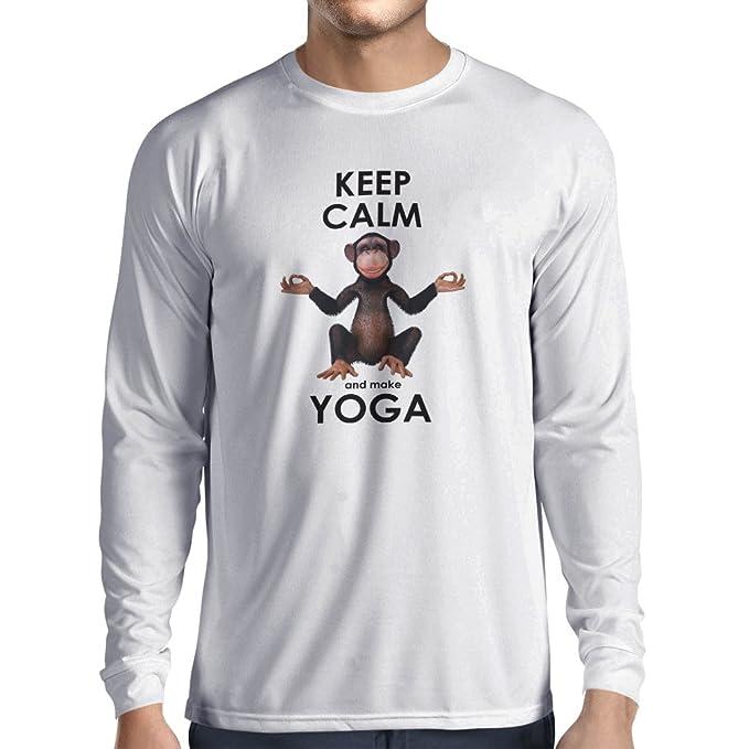 lepni.me Camiseta de Manga Larga para Hombre Mantenga la ...