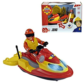 Amazon.com: Sam el bombero – Vehículo Jet Ski Juno con luz y ...
