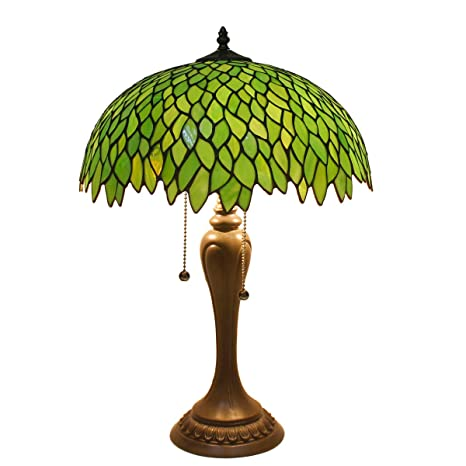 Tiffany Style Table Lamp Stained Glass Beside Desk Lamps 24 Inch