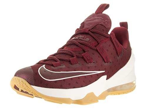 d1d3aef55a9 Nike Men s Lebron XIII Low Team Red Sail Black Basketball Shoe