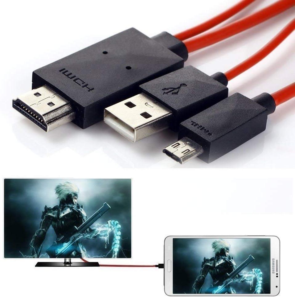 DSHS - Cable adaptador 1080P HDTV para MHL 11pin Micro USB a HDMI, de 1,9 m, para Samsung Galaxy, Note, Galaxy Tab, Galaxy Note