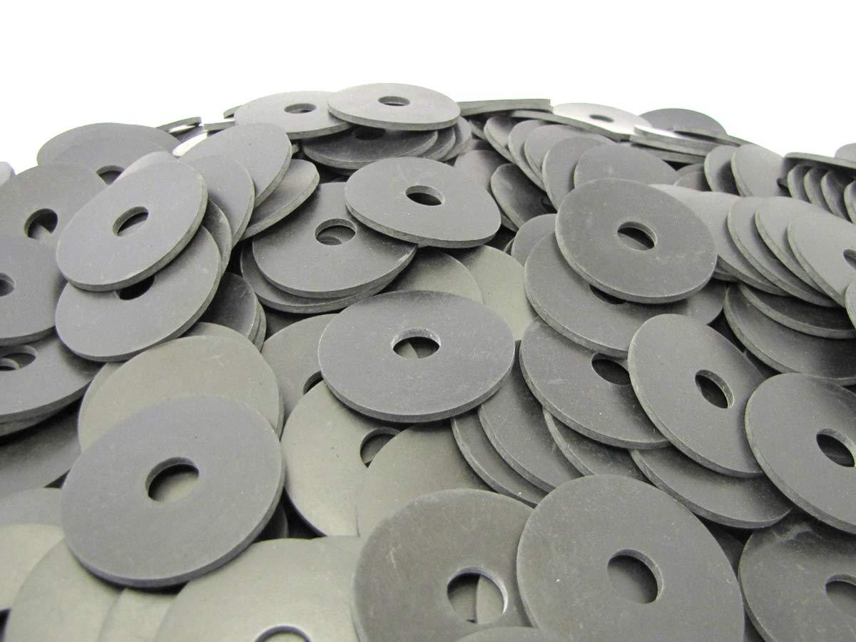 (100) Neoprene Rubber Washers 2 1/4'' OD X 9/16'' ID X 1/8'' Thickness - 70 Duro