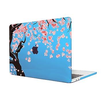 TwoL Carcasa MacBook Pro 13,Flores de Cerezo Plástico Funda Dura para MacBook Pro 13 Non Retina (A1278) (Cielo Azul)