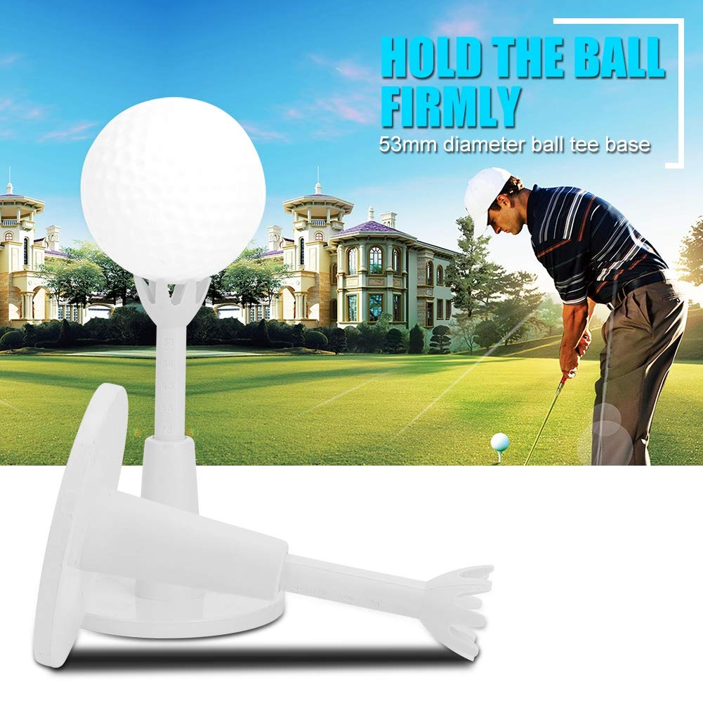 Golf Range Tees, Golf Ajustable de Plástico Blanco Tees Durable Practice Training Golf Tees