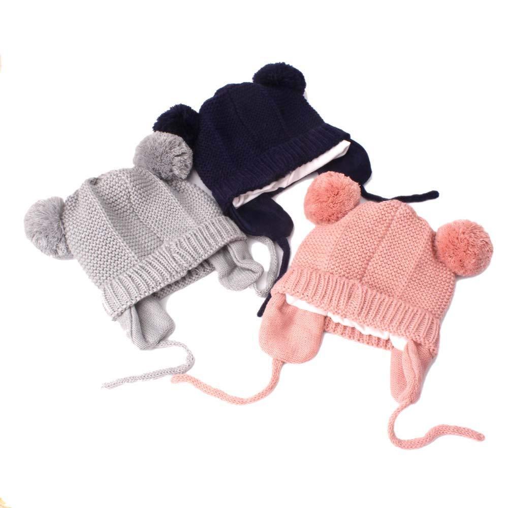4da19da89b3e Zyyuk Bonnet Mignon pour Bébé Bonnet Tricoté au Crochet pour Bébé, Fille et  garçon Chapeau d hiver pour Bébé (Blanc, 3mois-24mois)  Amazon.fr   Vêtements et ...