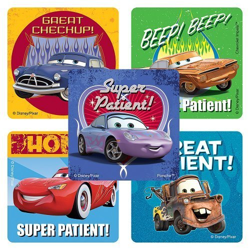 Disney Cars Patient Stickers - 100 Per Pack