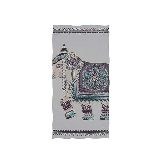 Tatuaje etnice africano Elefante suave Spa Playa Toalla de baño ...