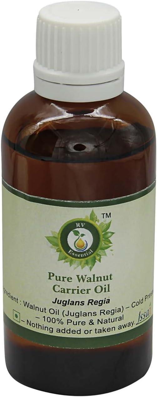 El aceite de nuez   Juglans regia   Para el pelo   Para Difusor   Para piel   Para Pintura   Para cocinar   100% natural puro   Prensado en frío   Walnut Oil  50ml   1.69oz By R V Essential