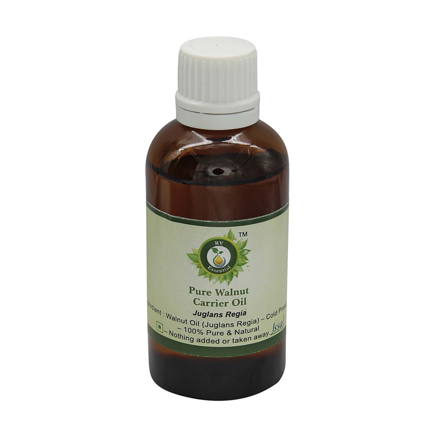 Walnut Oil | Juglans Regia | Pure Walnut Oil | For Hair | For Diffuser | For Skin | For Painting | For Cooking | 100% Pure Natural | Cold Pressed | 300ml | 10oz By R V Essential