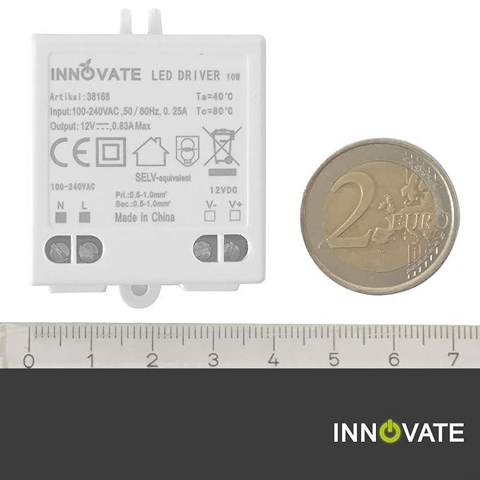 Innovate LED transformador Mini 12 V/dc, 0 - 10 W - Mini transformador/fuente/Driver: Amazon.es: Iluminación