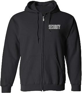 Area 51 Security Premium Zip up Fleece Hoodie with Reflective Decoration