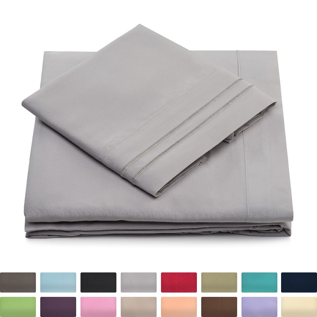 amazon com king size bed sheets silver luxury sheet set deep
