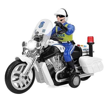 Amazon.com: Zerodis Motocicleta de policía eléctrica ...