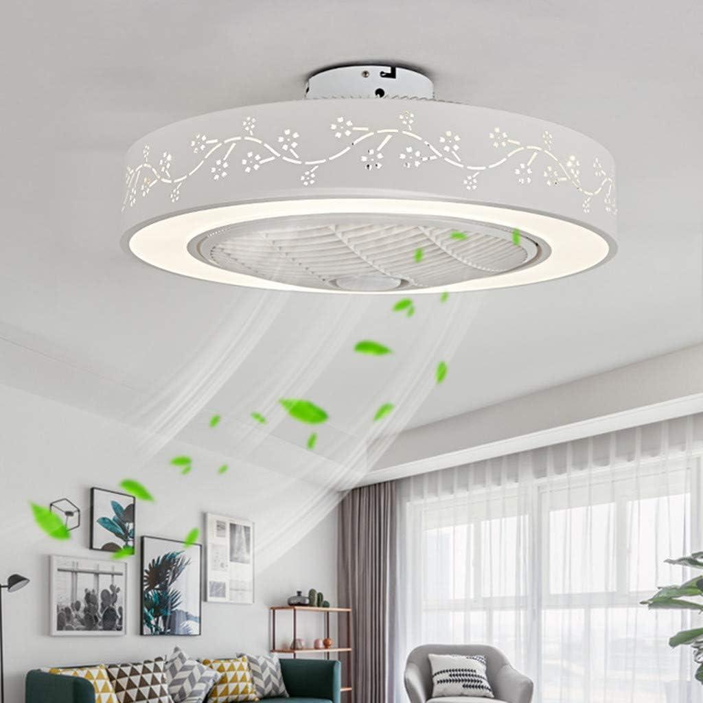 Dszltf Ventilador de Techo LED Ventilador de Techo con luz Mando a Distancia Moderno jardín de Infancia Dormitorio Oficina Comedor salón Luces Decorativas (tamaño: 55 x 20 cm)
