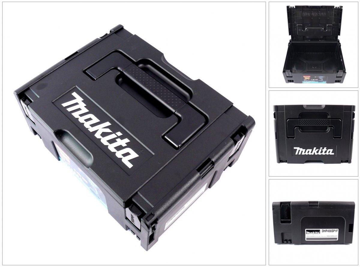 Makita MAKPAC 2 Systemkoffer - ohne Einlage Schwarz