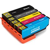 PUREINK 1 Set Remanufactured For 410 410XL Ink Cartridges, Hight Yield, Compatible with Expression Premium XP-830 XP-640 XP-630 XP-530 XP-635 Printer.(1 Black 1 Photo Black 1 Cyan 1 Yellow 1 Magenta)