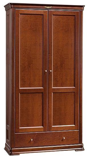 Schlafzimmer-Schrank Erle massiv Kirsche 200x108x53 cm ...