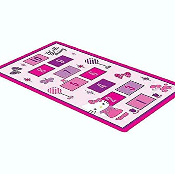 Hello Kitty Hopscotch Game Rug Includes Bean Bags Hello Kitty Room Decor  Carpet Mat Great Gift