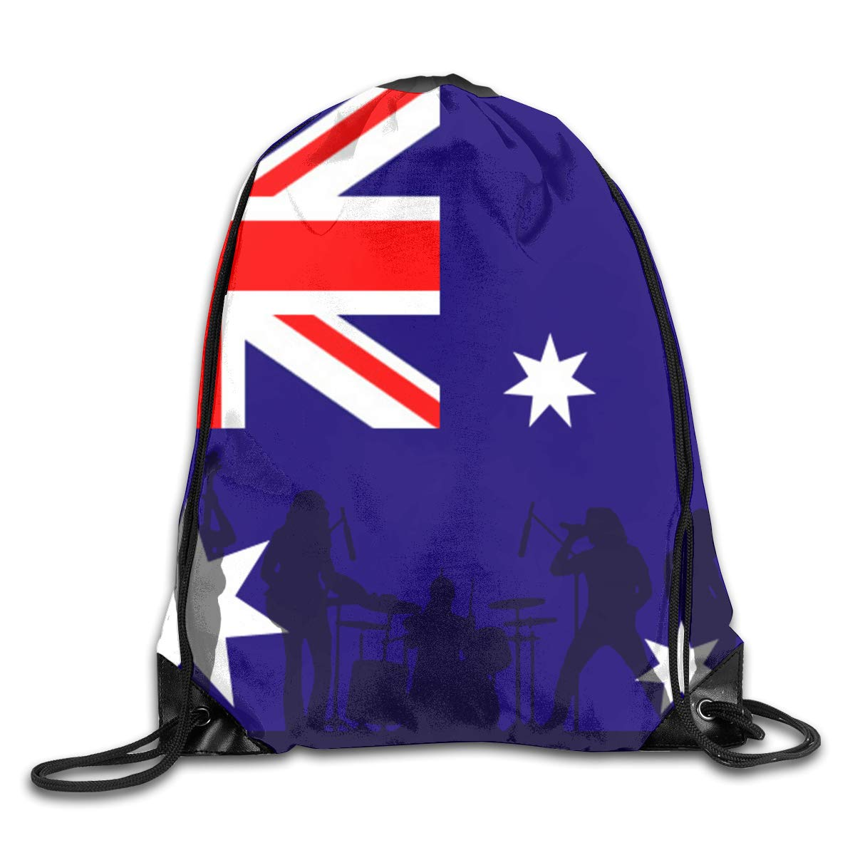 Australian Flag Beam Mouth Backpack Pull Rope Shoulder Bag Outdoor Sports Leisure Bag