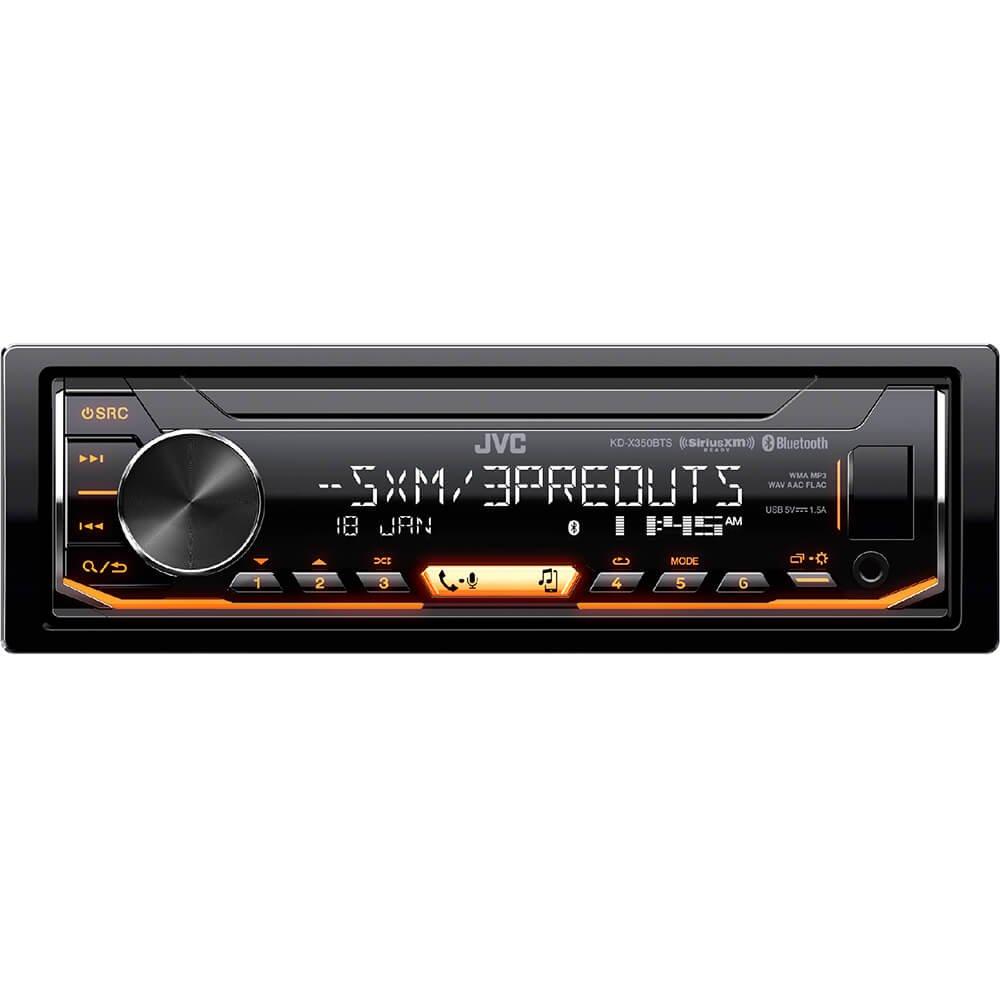 Amazon.com: JVC KD-X350BTS 1-Din Car Digital Media Bluetooth Receiver  USB/iPhone/SiriusXM: Cell Phones & Accessories