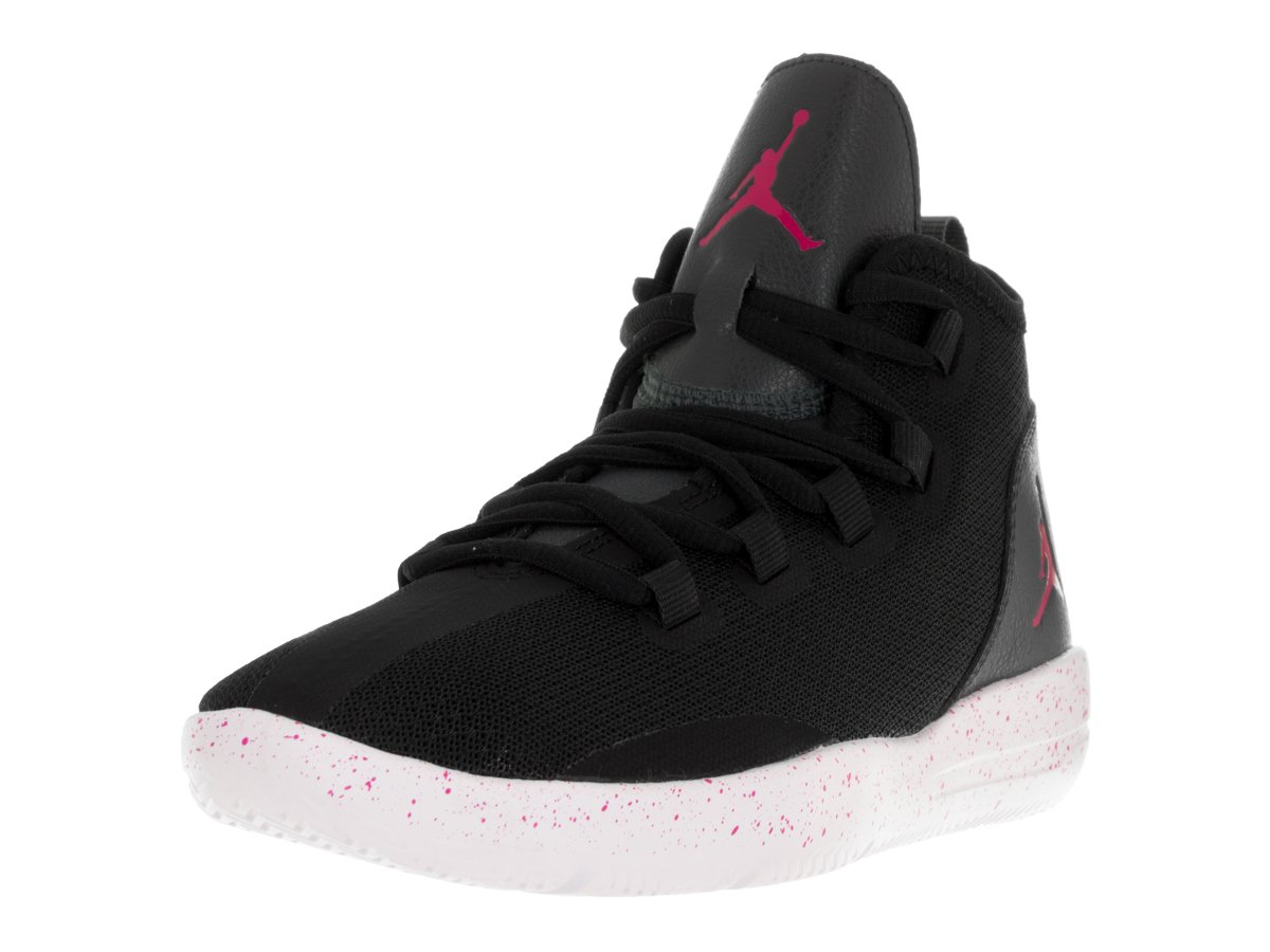 Jordan Nike Kids Reveal Gg Black/Vivid Pink Anthrct White Basketball Shoe 5.5 Kids US