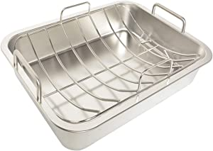 only fire Stainless Steel Barbecue Bakeware Roaster Roasting Pans with U-Rack