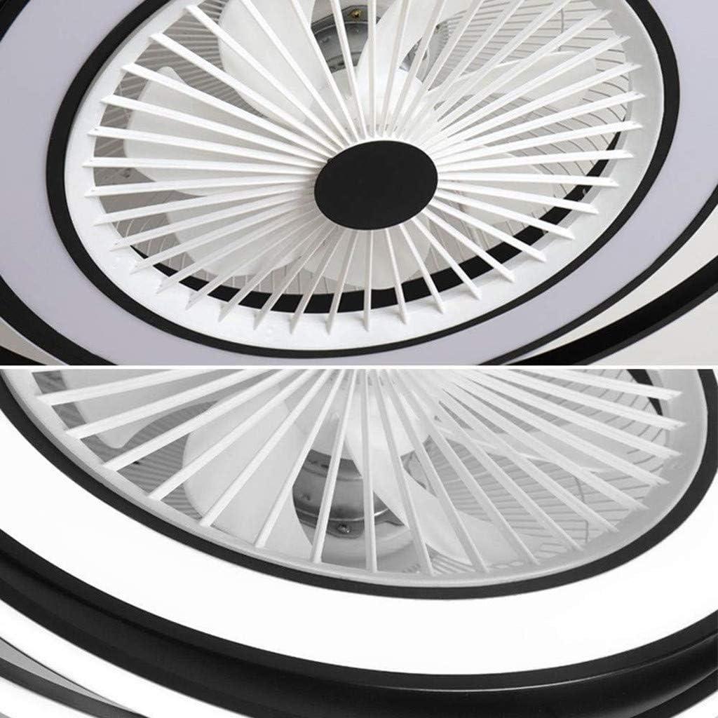 Fan Licht LED Deckenleuchte Nordic Schlafzimmer Nach Hause Unsichtbare Deckenventilator Licht Restaurant Kinderzimmer Wohnzimmer Mit Fernbedienung Leise Deckenventilator Licht Schwarz,Schwarz